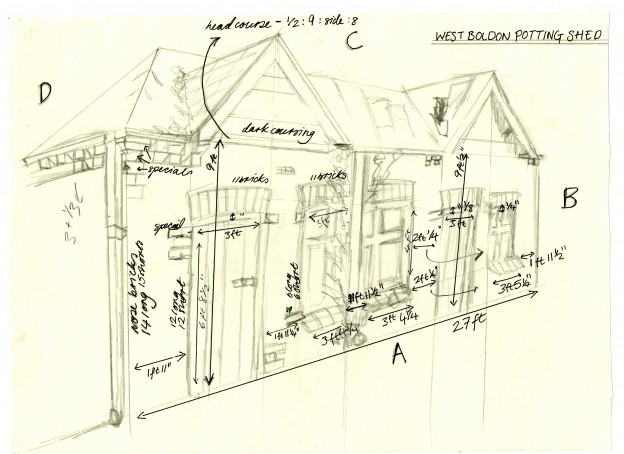 One of Clara's working drawings